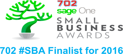702 Small Business Award logo, 2016 Finalist